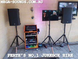 Touch Screen karaoke Jukebox Hire Perth