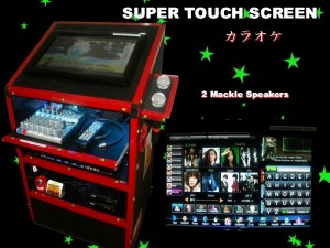 Touch Screen Karaoke for hire Perth