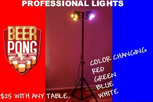 BEER PONG TABLE LIGHT HIRE PERTH