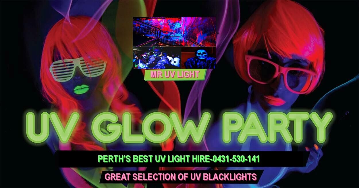 uv and blacklight hire perth for glow party