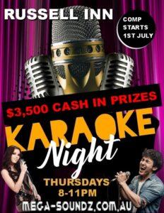 Cash Karaoke Competiton Perth 2021